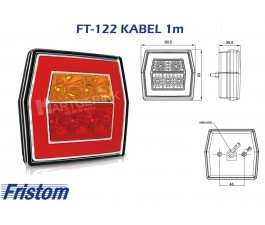 Achterlicht led FRISTOM FT-122 kabel