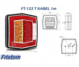 Achterlicht led FRISTOM FT-122 T kabel