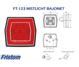 Mistlicht led FRISTOM FT-123 bajonet