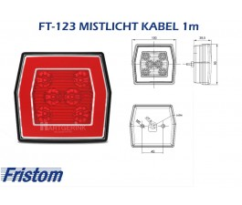 Mistlicht led FRISTOM FT-123 kabel