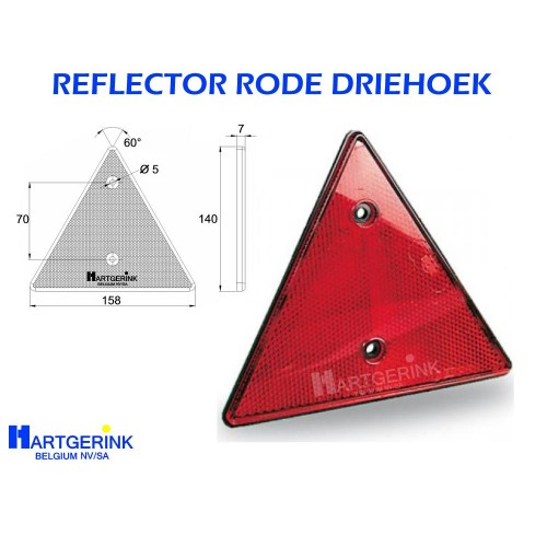 Reflector Rode Driehoek