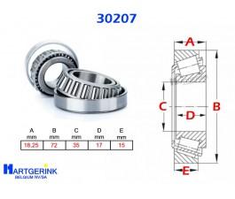 KEGELROLLAGER 30207