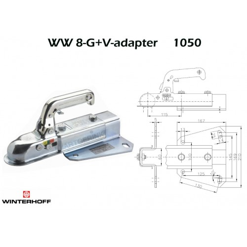Koppeling WINTERHOFF WW8-G+V-adapter