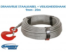 Staalkabel 9 mm - 20 m